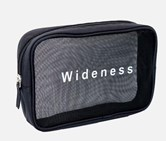 Cosmetic Bag-Mesh Rectangular Shape, Navy Blue