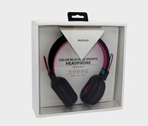 Color Blocking Sports Headphone, Black/Purple