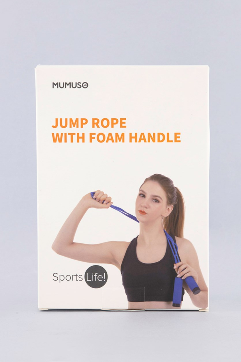 Jump Rope With Foam Handle, Blue