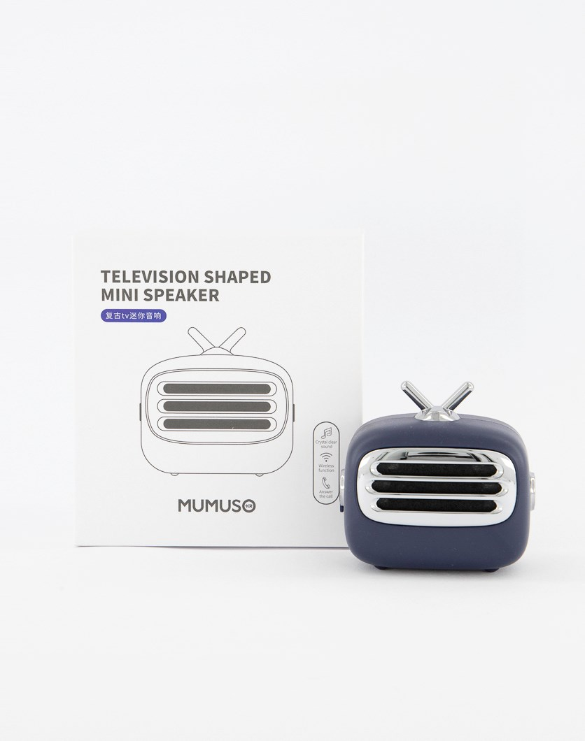 Television Shaped Mini Speaker, Blue