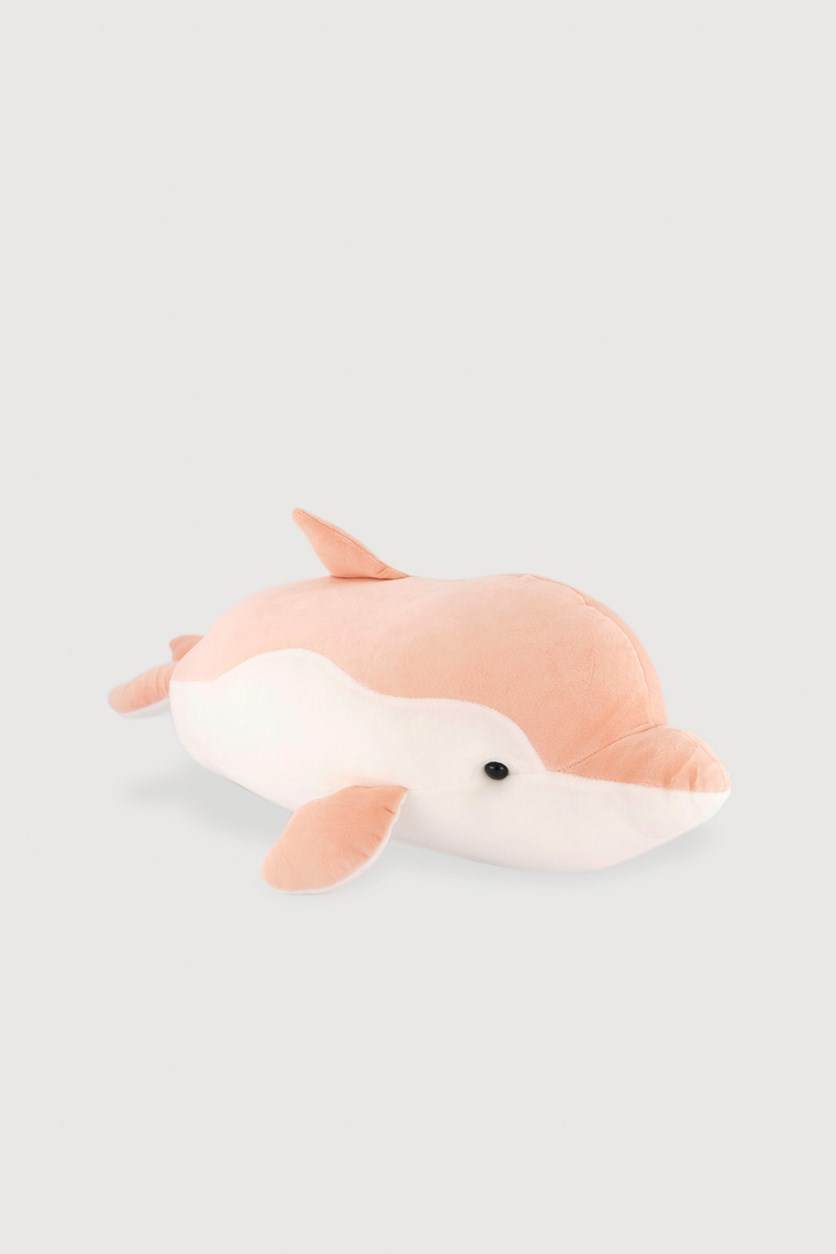Dolphine Lie Prone Plush Toy, Pink