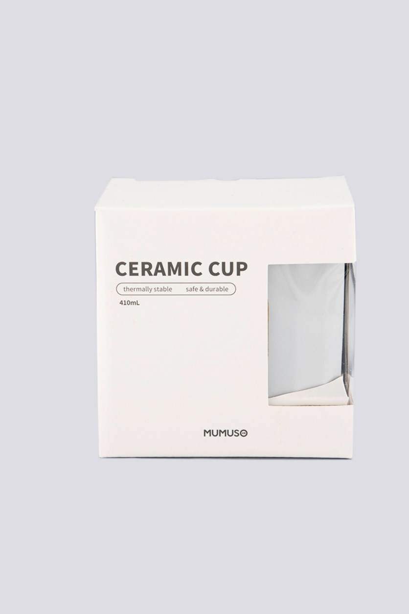 Ceramic Cup 410 ml, Light Grey