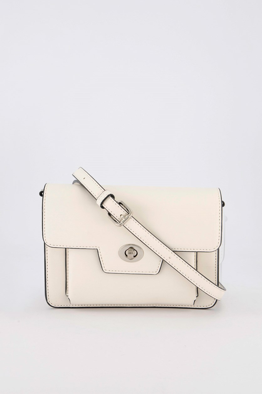 Plain Cross-Body Bag, White