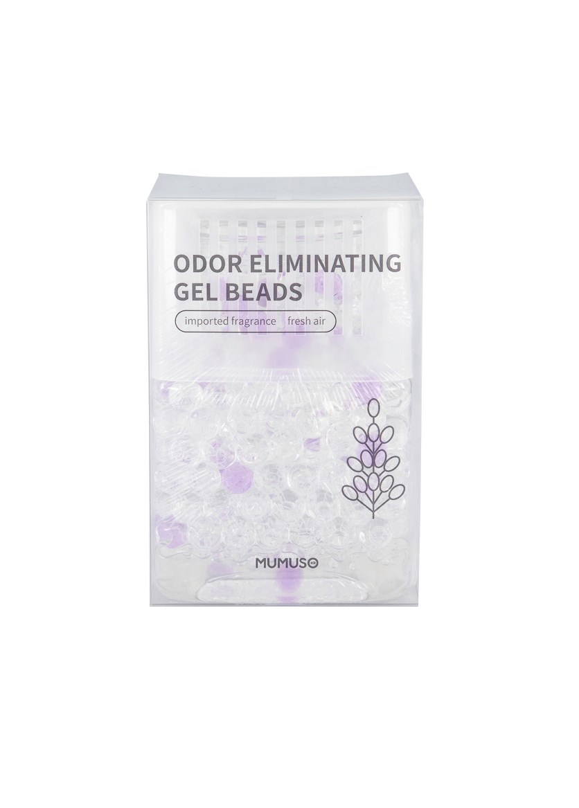 Odor Eliminating Gel Beads, Transparent/Purple