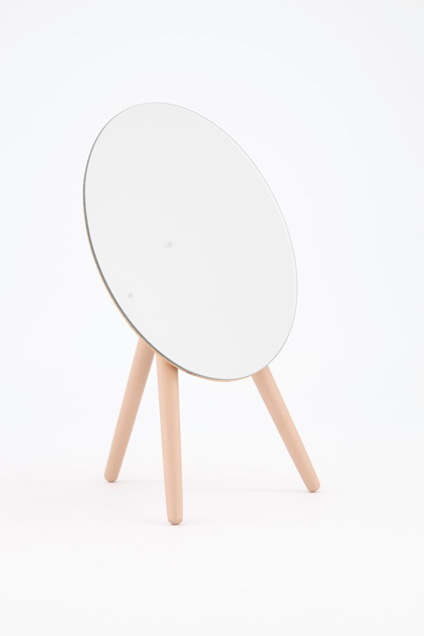 Table Mirror With Tripod, Pink