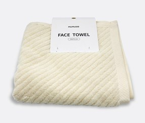 Face Towel, White