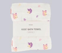 Kids Bath Towel, White