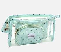 Multi-functional Cosmetic Bag, Light Blue
