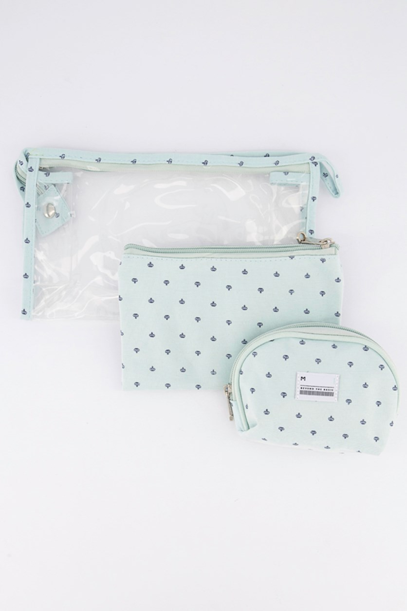 Multifunctional Cosmetic Bag, Light Blue