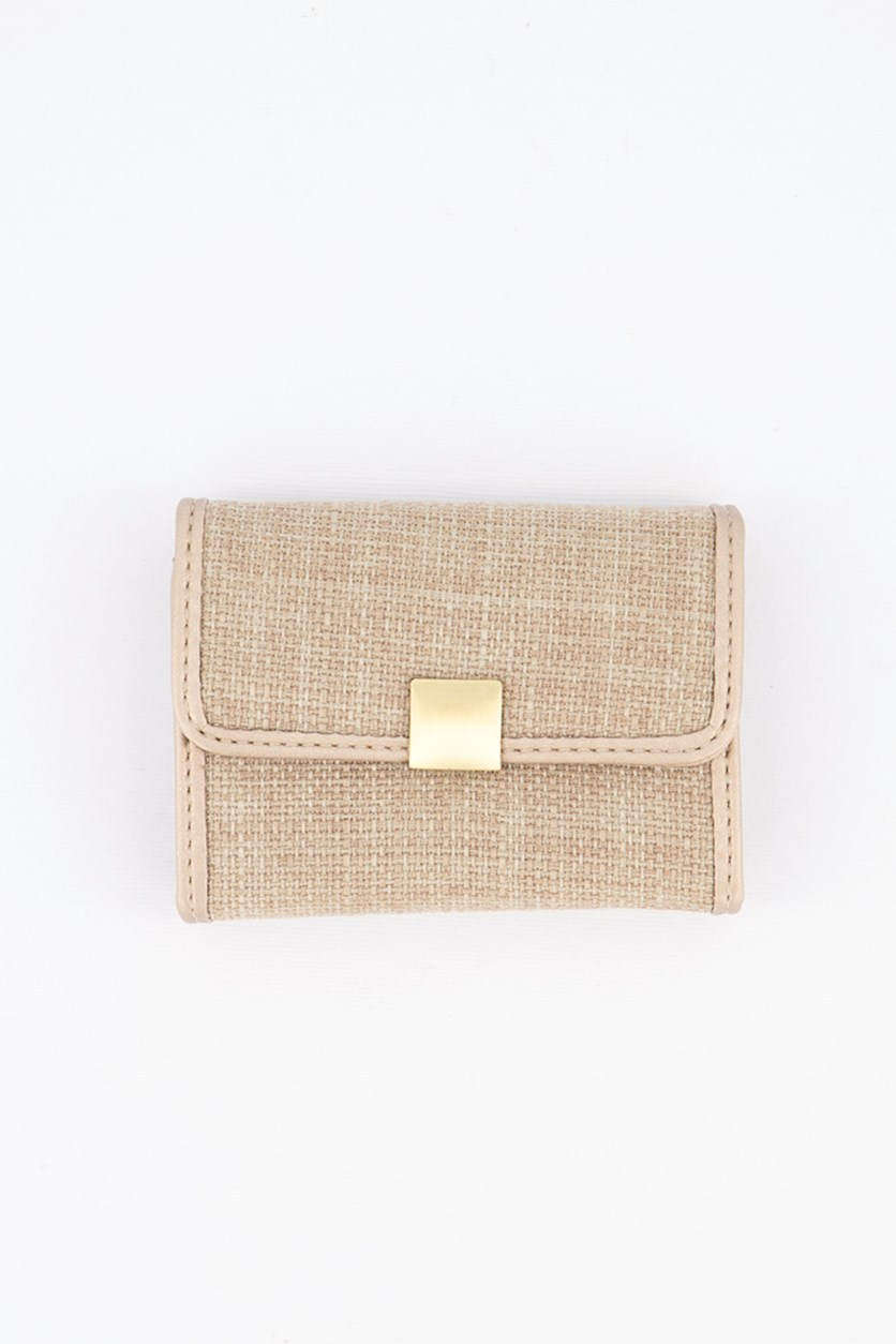 Card Holder With Press Stud, Gray