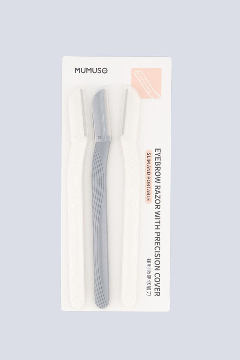 3 Pack Eyebrow Razor With Precision Cover