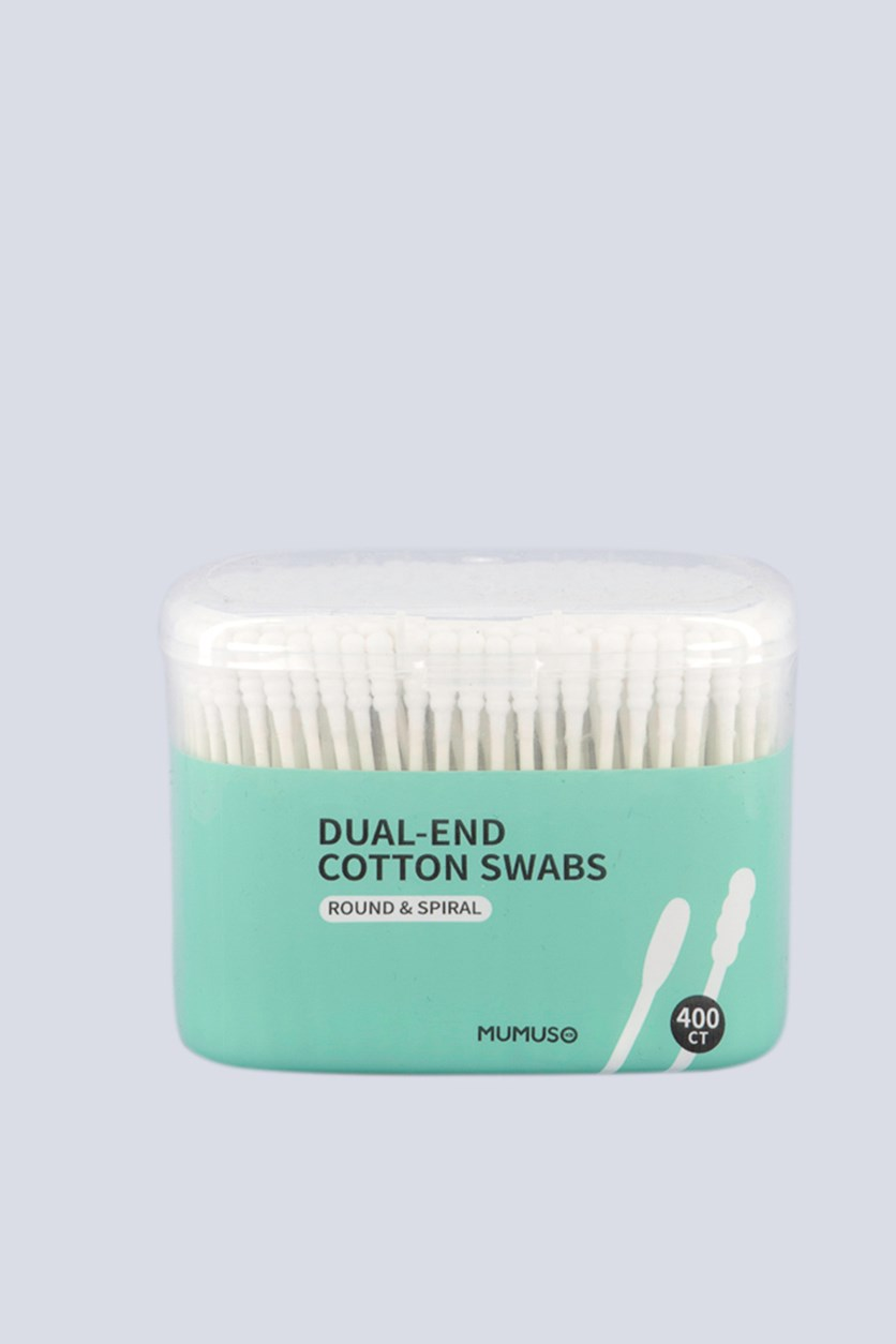 Dual-End Cotton Swabs, White