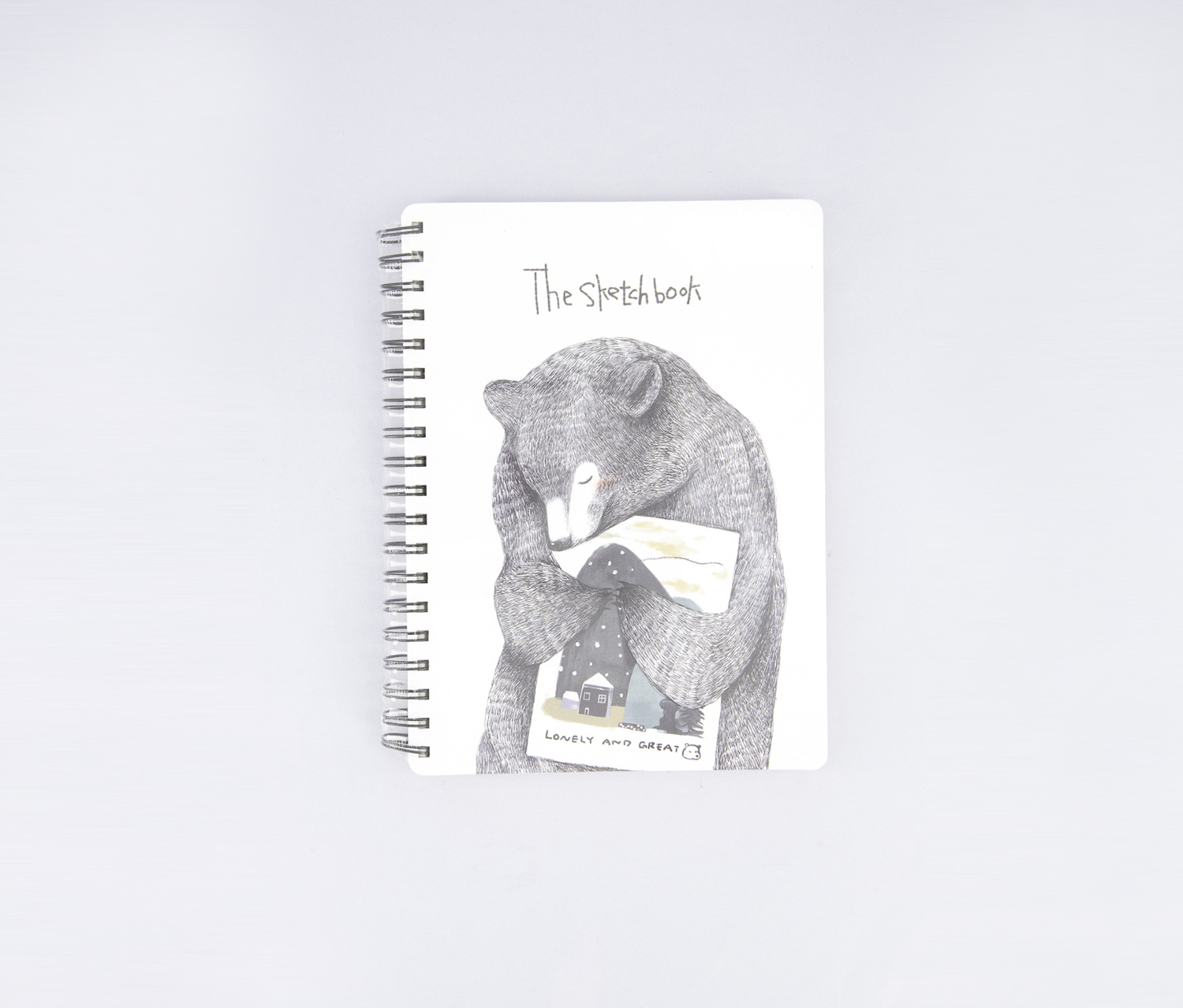 B5 Sketch Book (A Lonely Bear), White