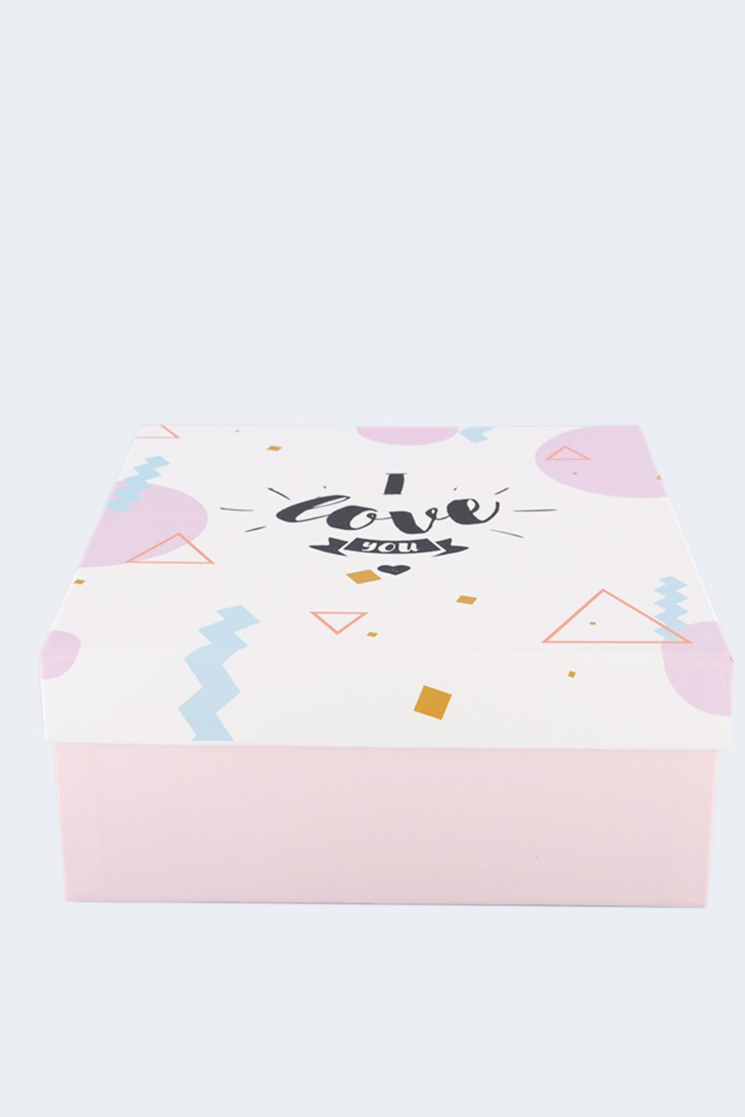 Gift Box Square, Pink
