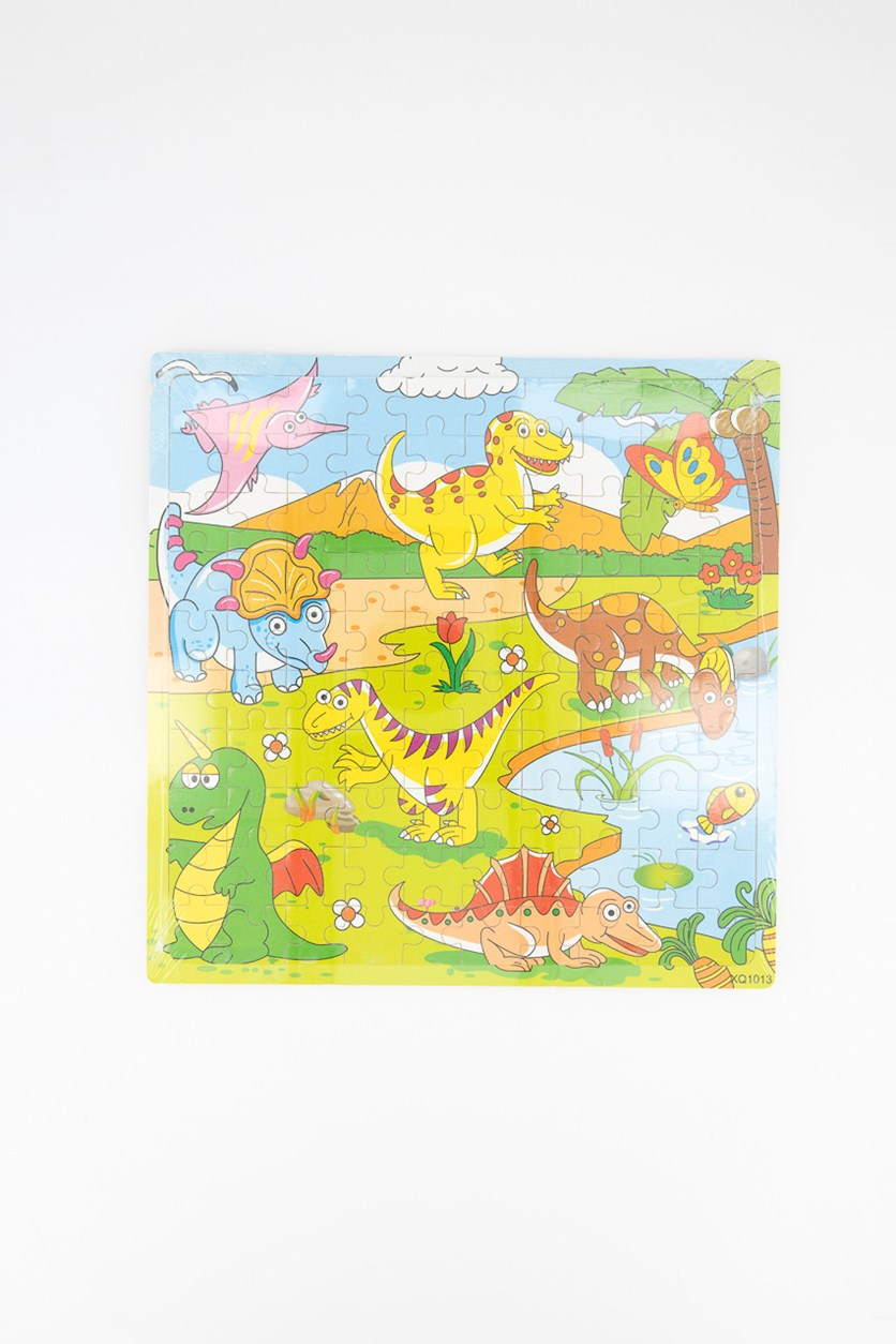 Dinosaur Wooded Puzzles, Green Combo