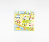 Cars & Vehicles Wooden Puzzle, Yellow/Green Combo