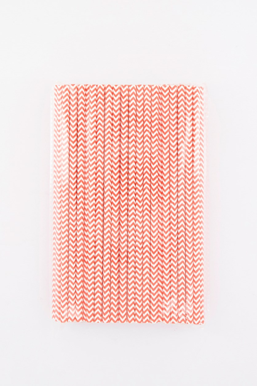 Disposable Drinking Straws, Red/White