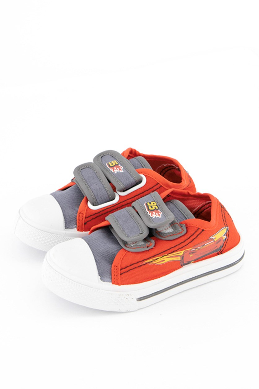 Toddler Boys Cars Casual Shoes, Red/Grey