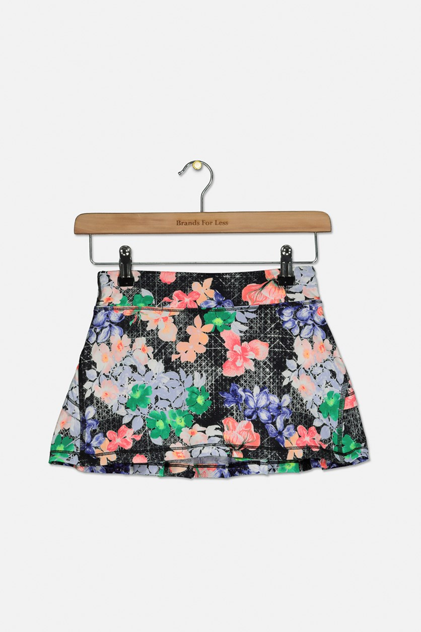 Big Girls Printed Tiered-Back Skirt, Floral