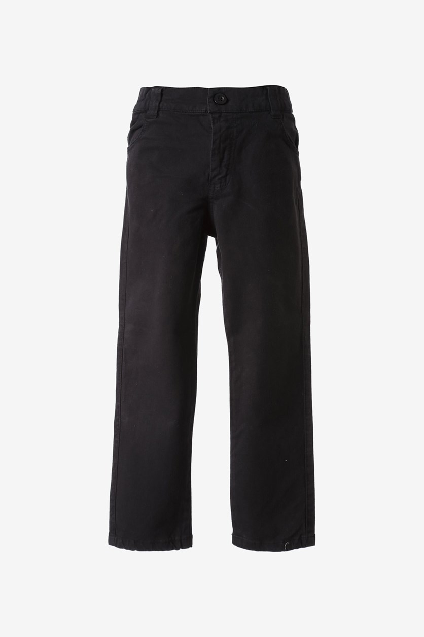 Boys Straight Pants, Black