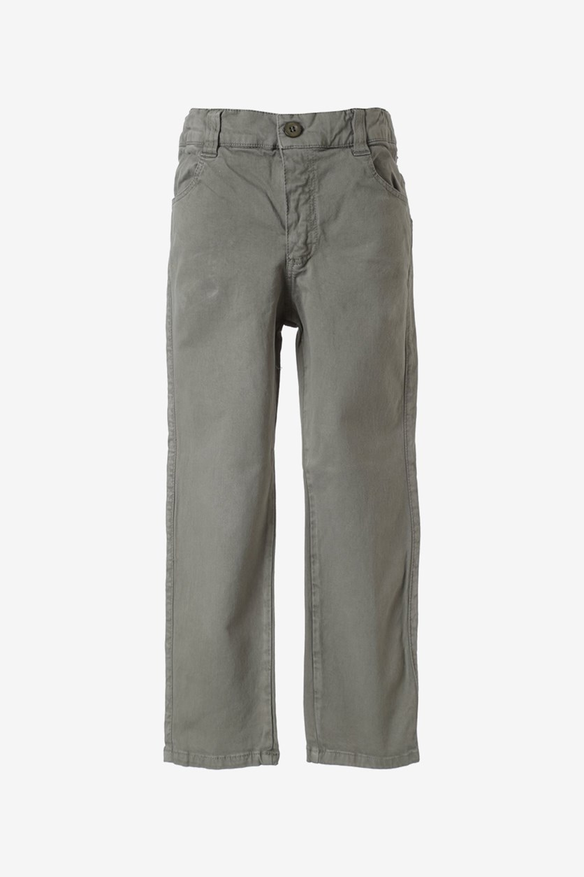 Boys Straight Pants, Olive