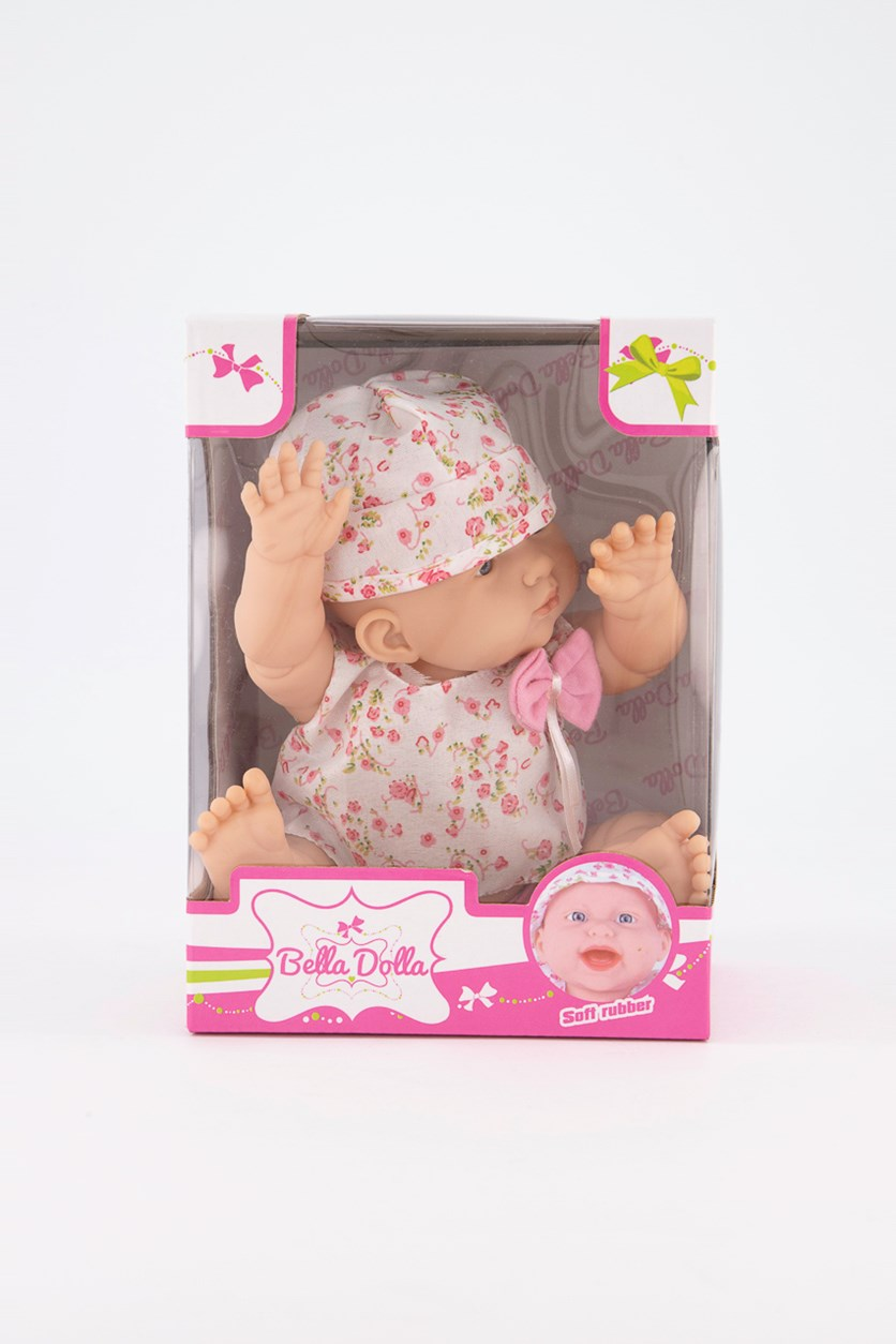 Soft Rubber Vinyl Doll, Pink/White