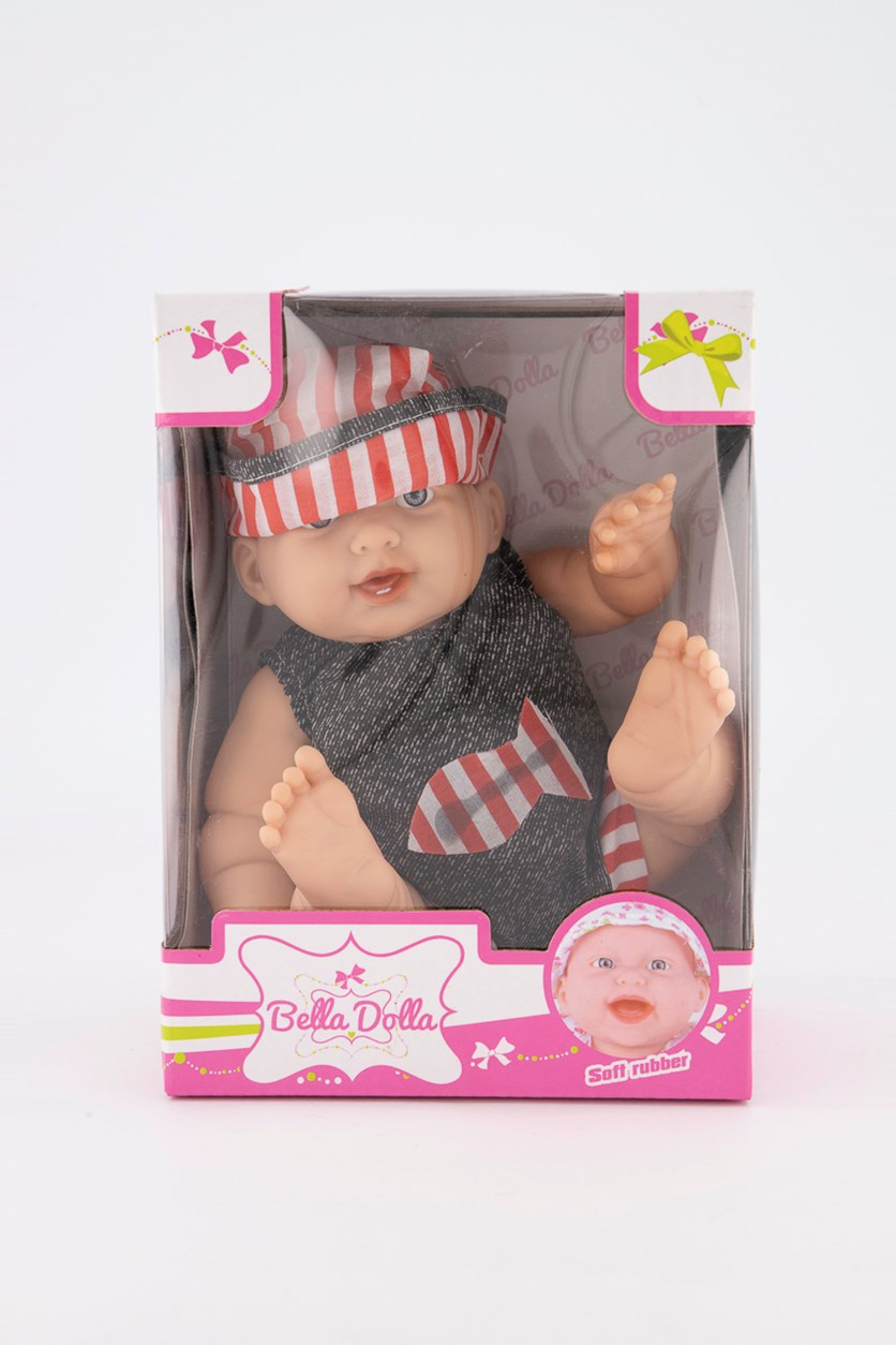 Soft Rubber Vinyl Doll, Charcoal Combo
