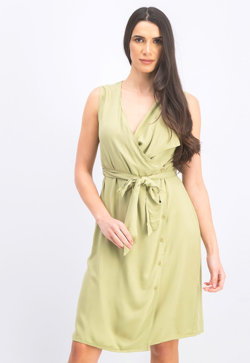 Women's Utility Midi Dress, Green
