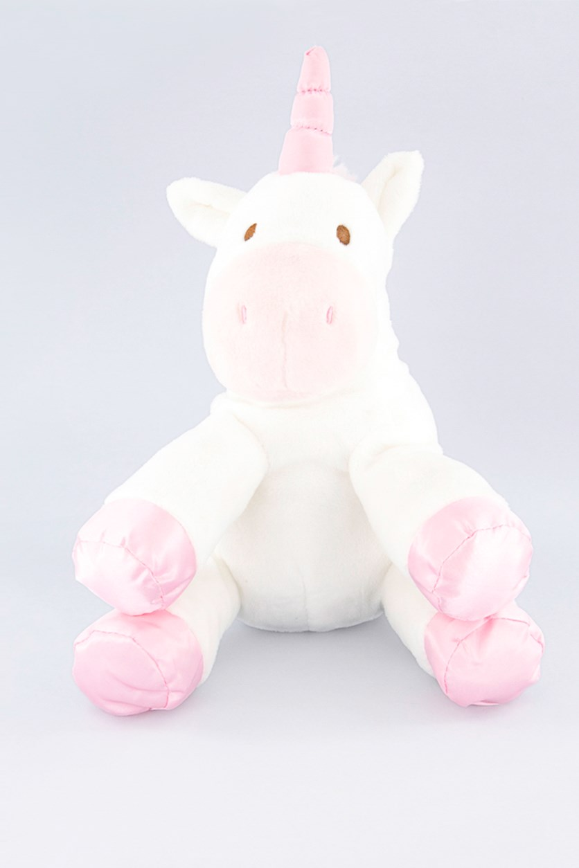 Baby Unicorn Plush With Crinkle & Rattle, White/Pink