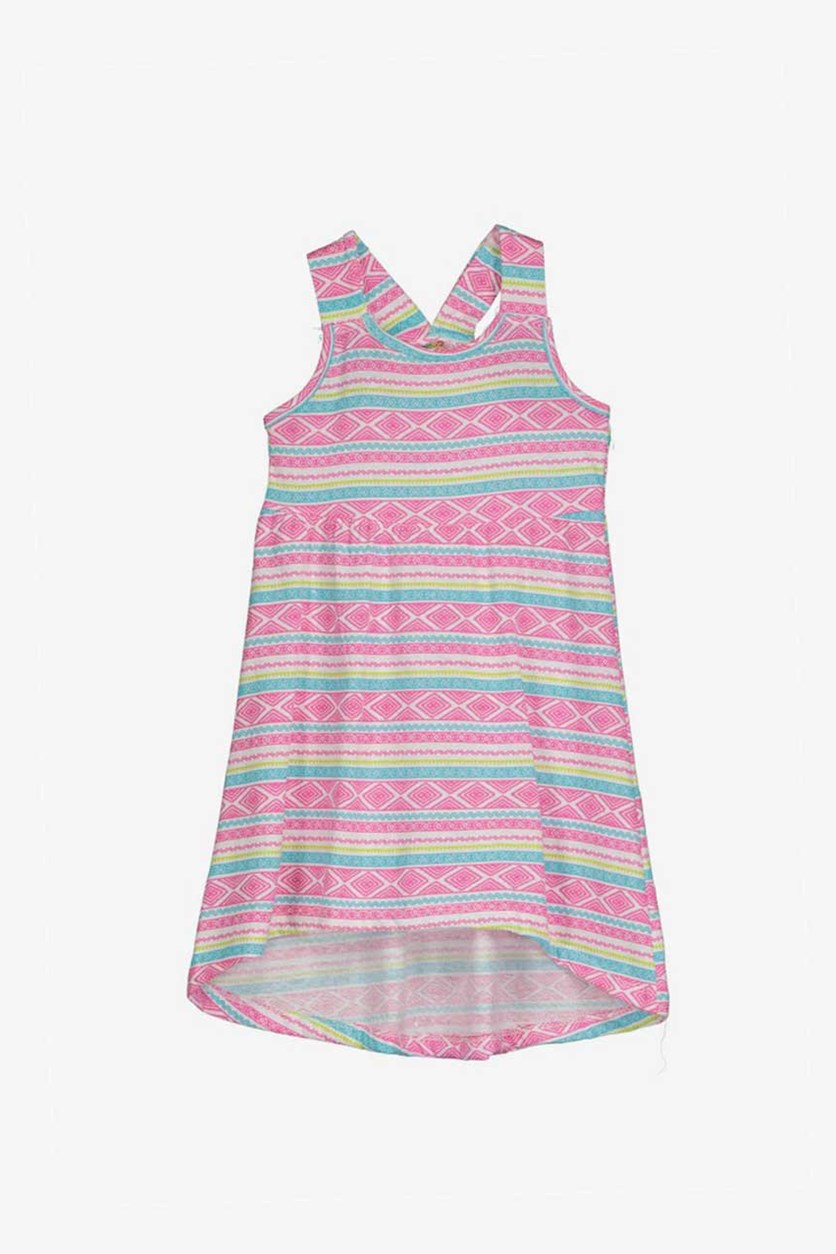 Little Girls Raceback Dress, Pink