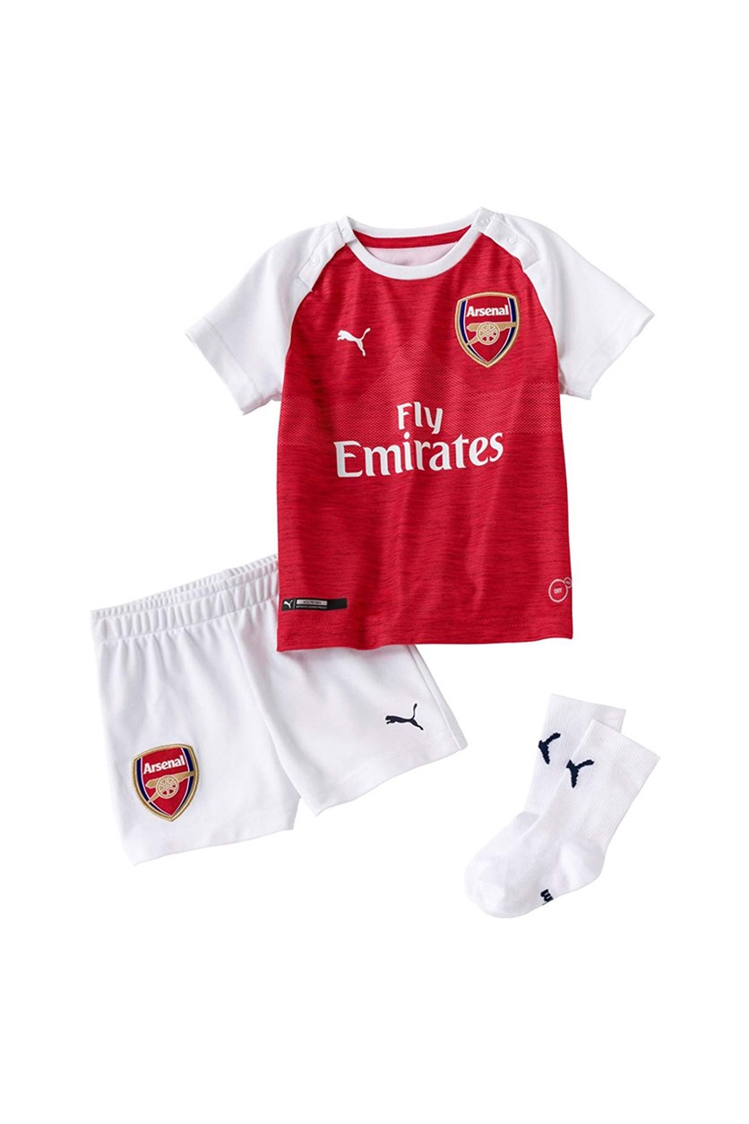 Boys Arsenal Home Baby Kit, Red/White
