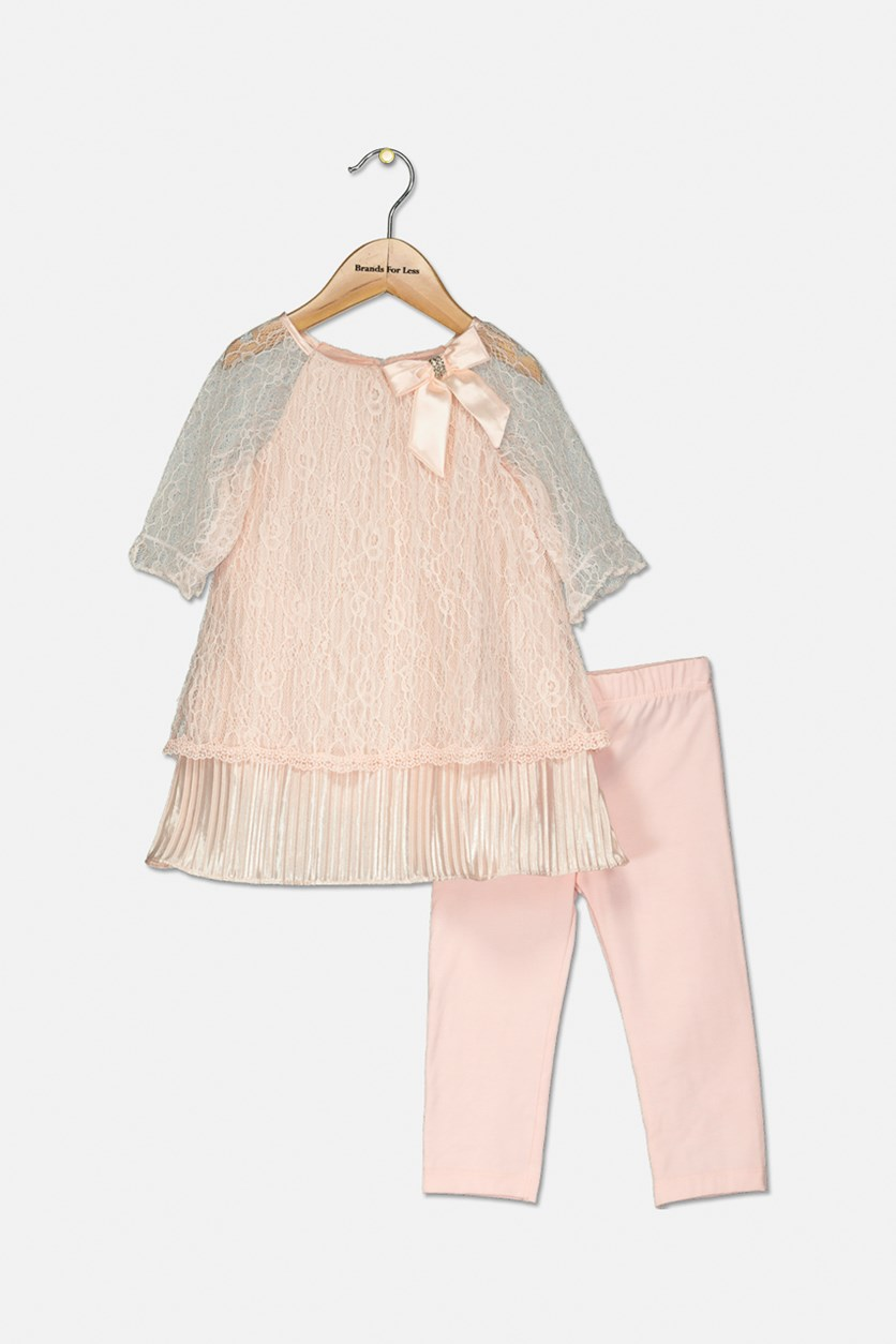 Baby Girls 2-Pc. Lace Tunic & Leggings Set, Blush
