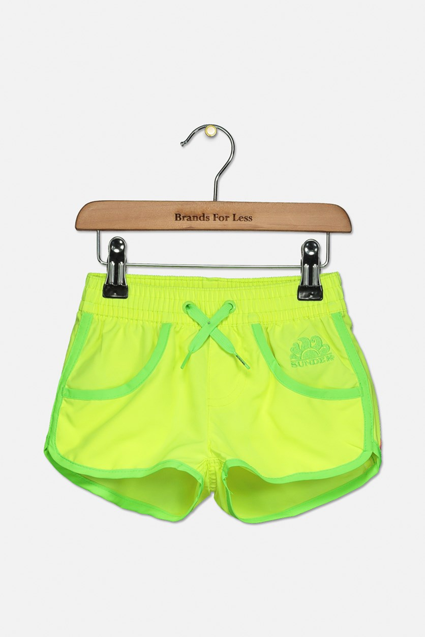 Little Girl's Mini Lora Borad Short, Lime