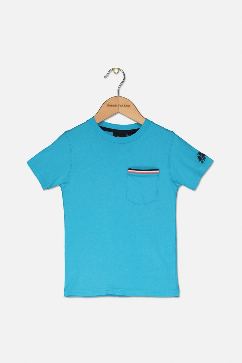 Little Boy's Pocket T-Shirt, Blue