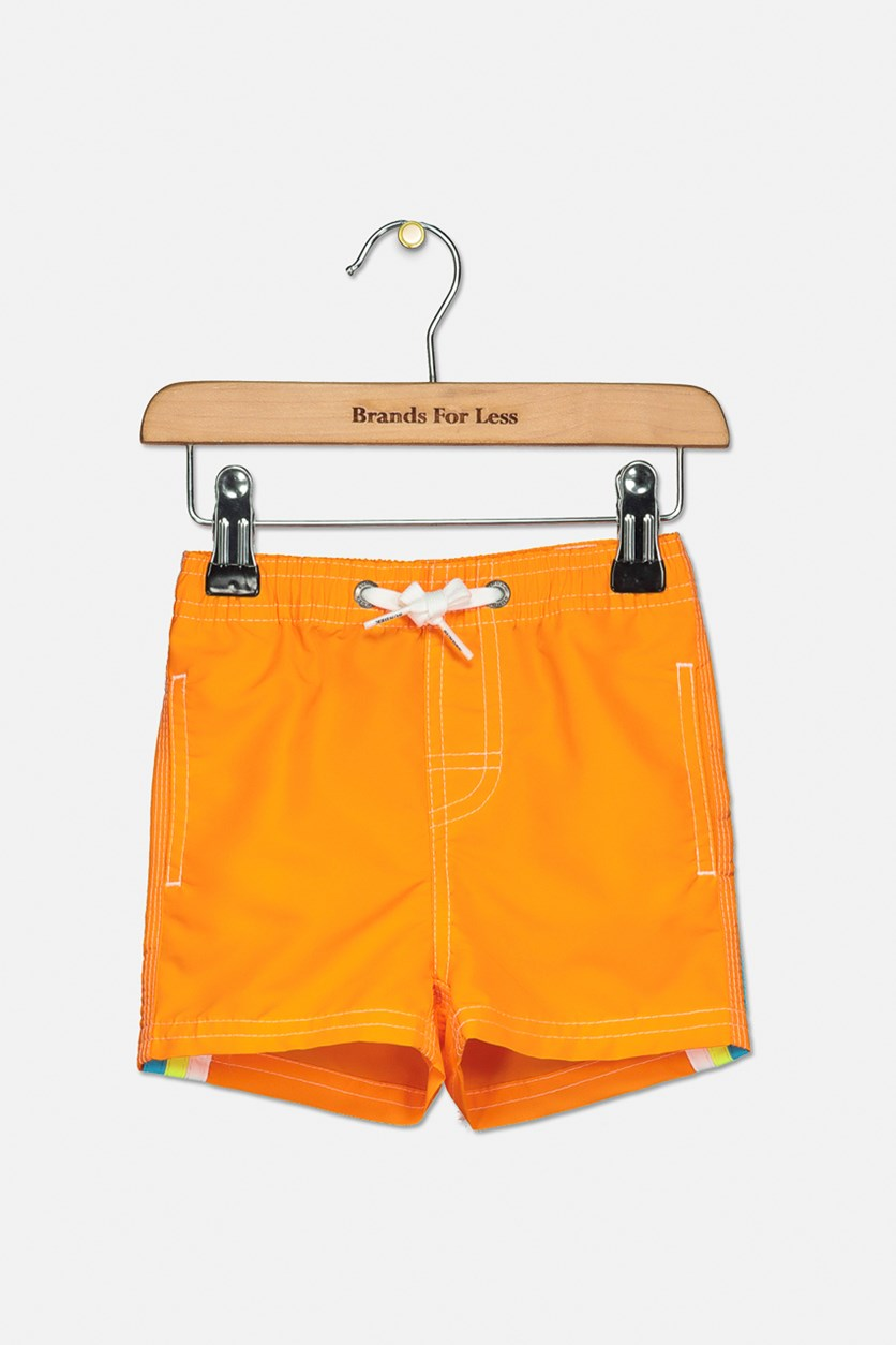 Little Boy's Boardshort, Orange