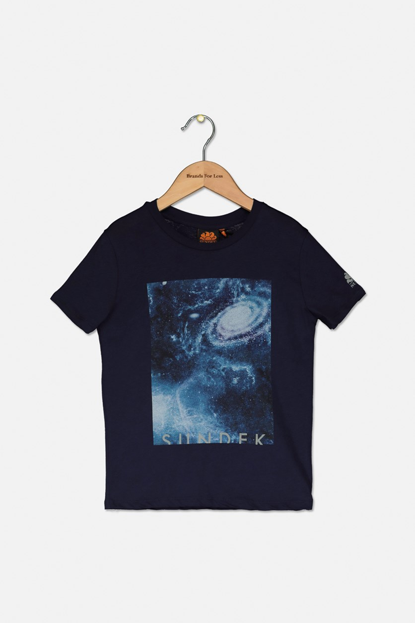 Kids Boy's Graphic Printed Tee, Navy