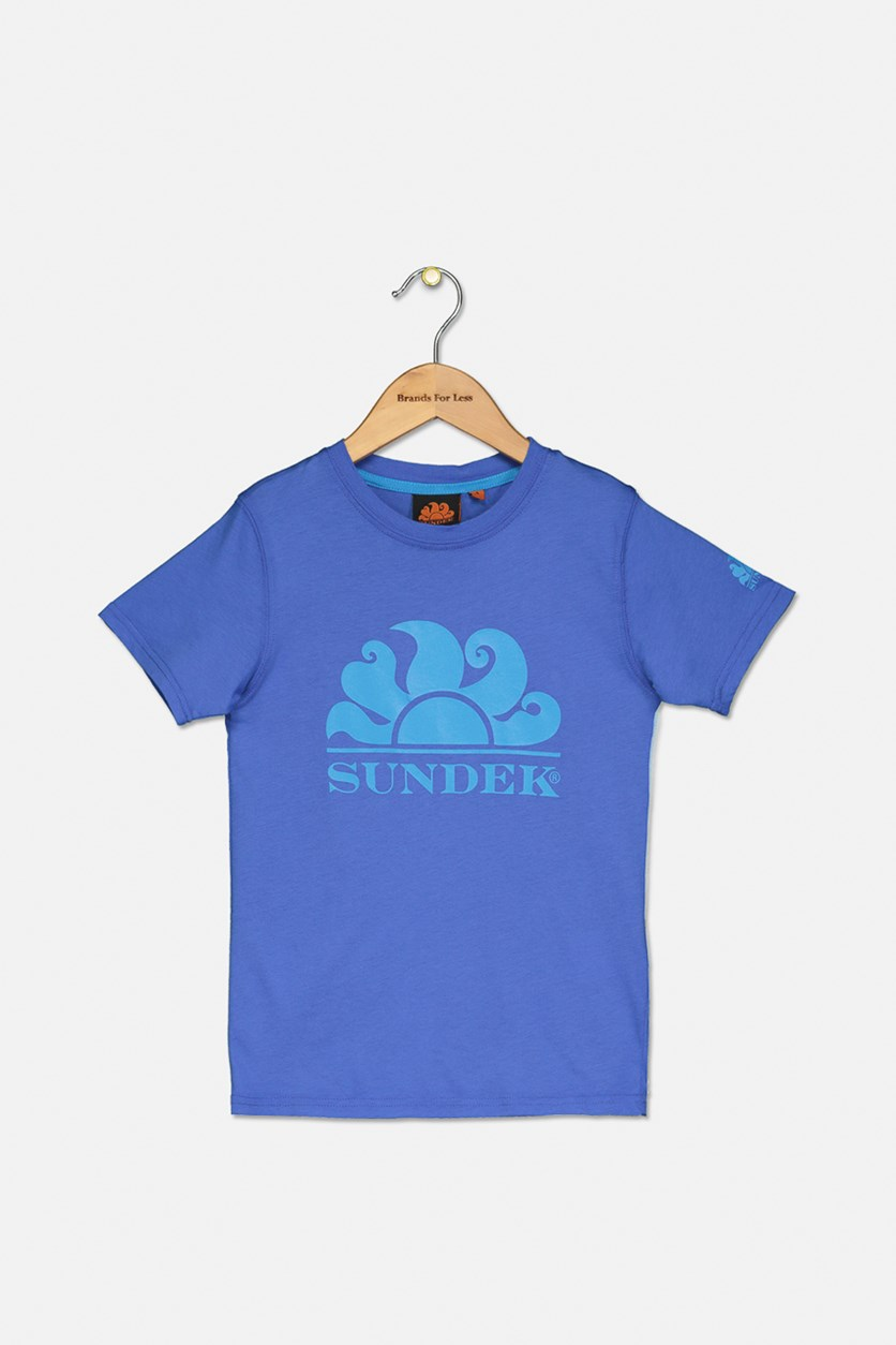 Kids Boy's Graphic Printed Tee, Blue