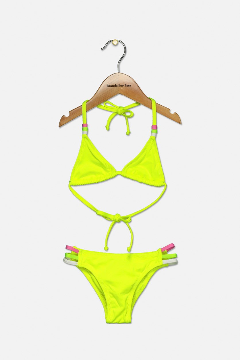 Kids Girl's Mini Jeniffer Bikini, Citron