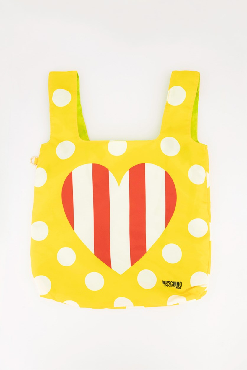 Roll Up Tote Bag, Yellow Combo