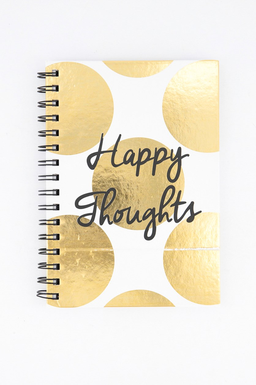 Happy Thoughts Notebook, Gold Combo