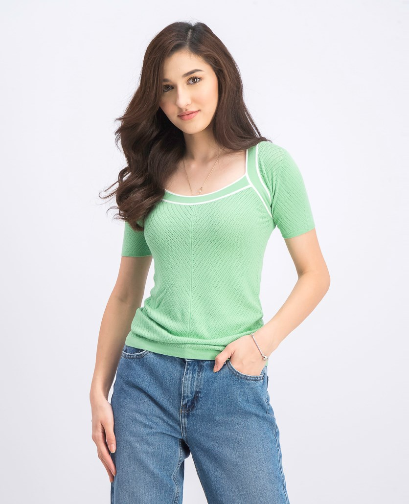 Women's Shortsleeve Top, Green