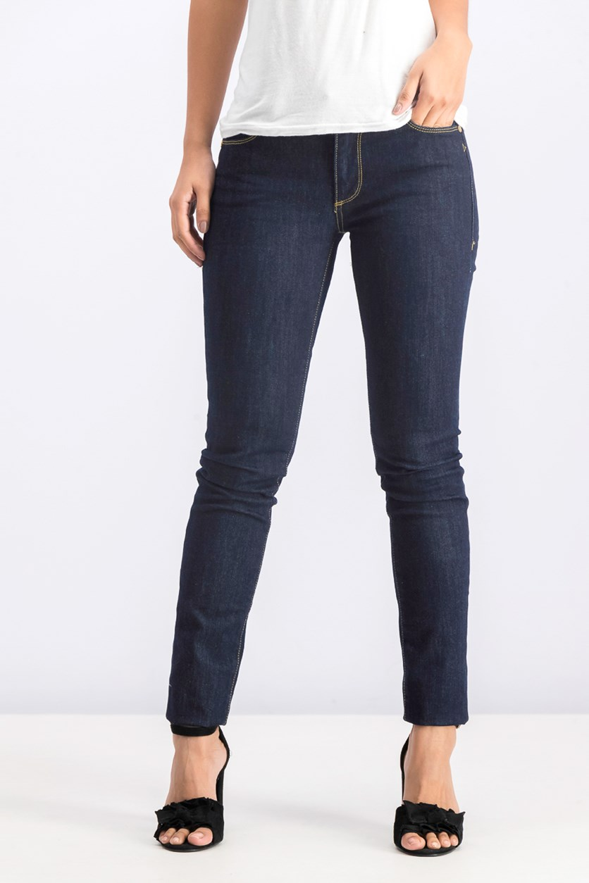 Women's 260 Regular Mid Rise Slim Fit Jeans, Navy