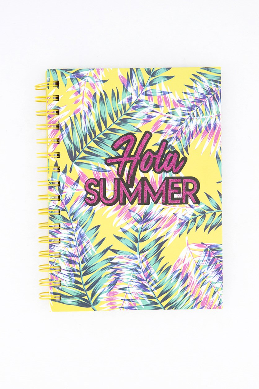 Hola Summer Spiral Notebook, Yellow Combo