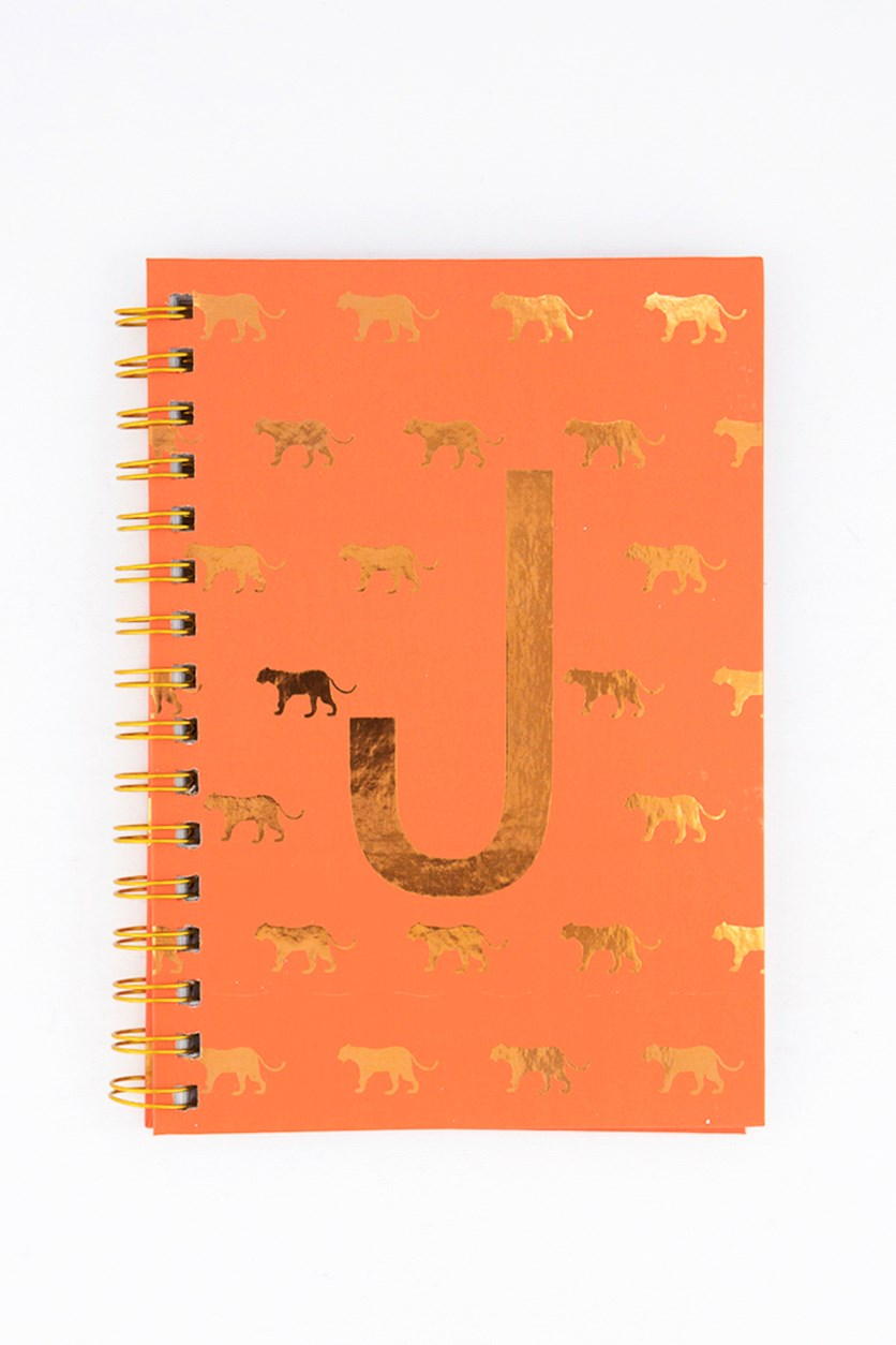 Spiral Notebook with Lined Pages, Orange Combo