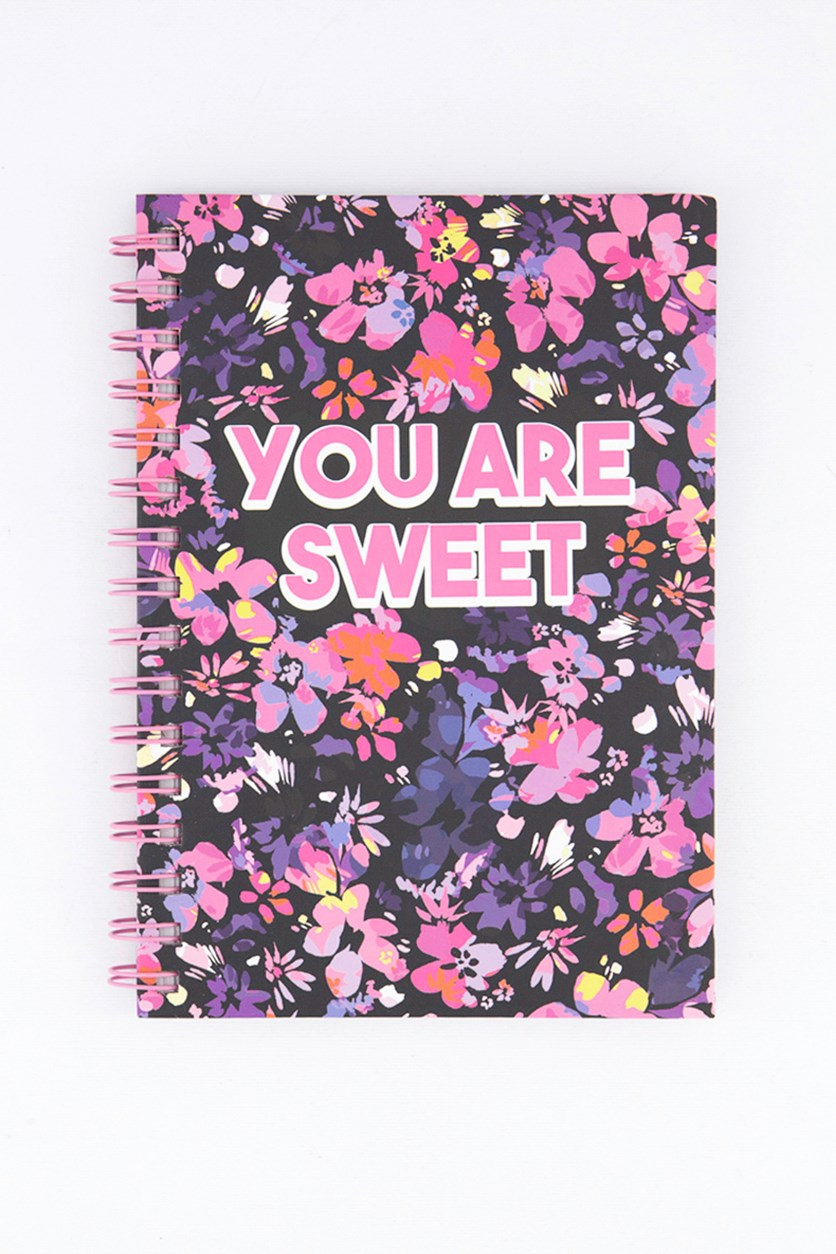 Floral Spiral Notebook, Pink Combo
