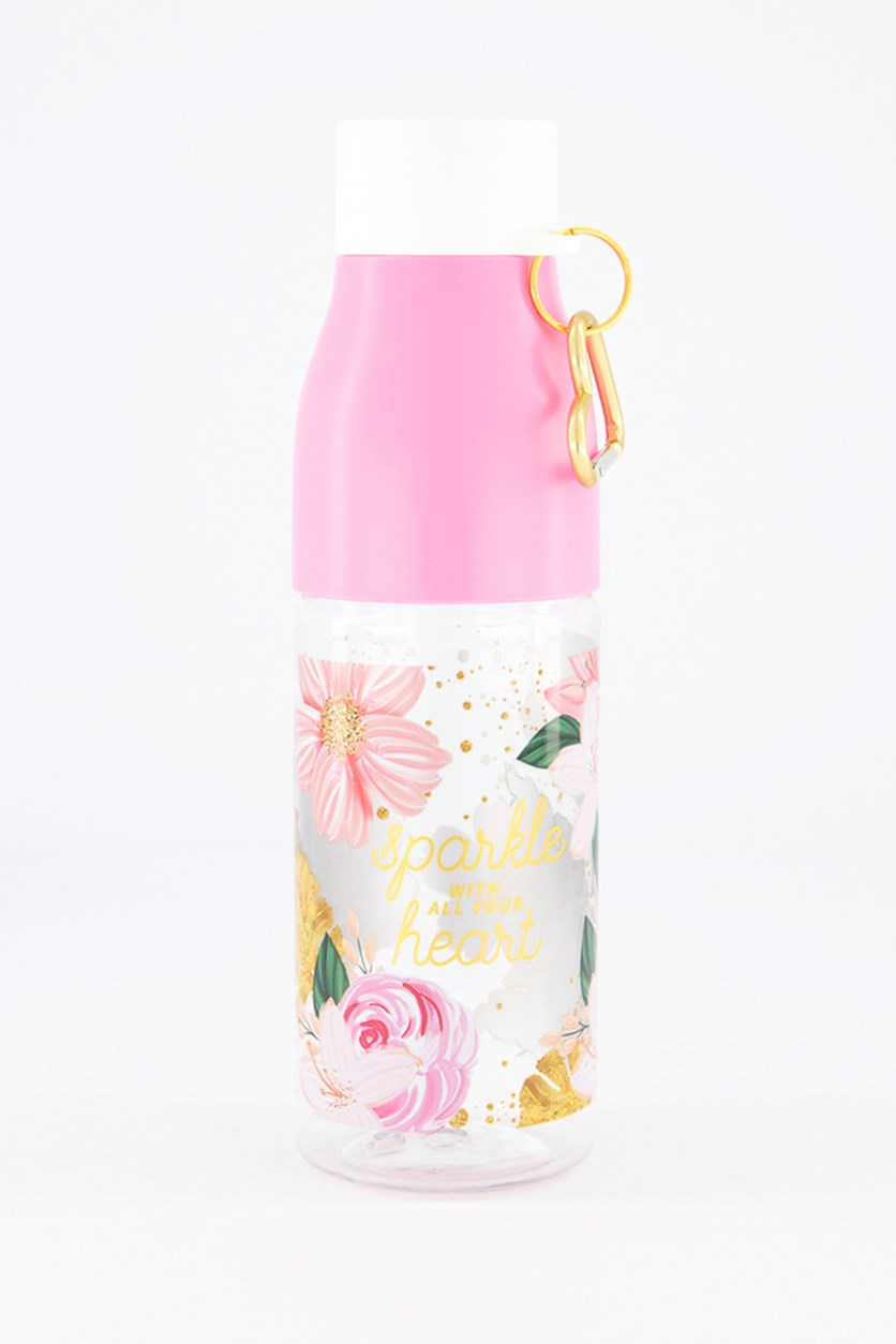 Floral Water Bottle, Pink Combo