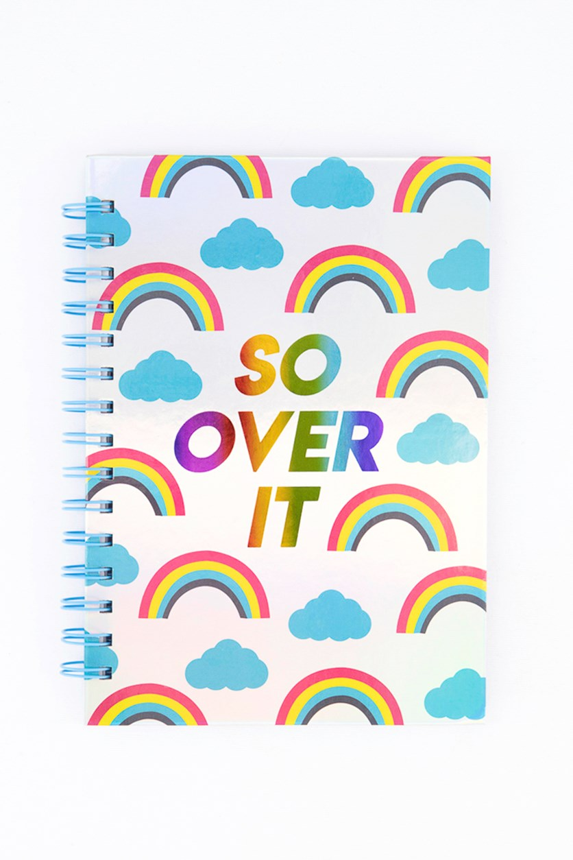 Rainbow Spiral Notebook, Blue Combo