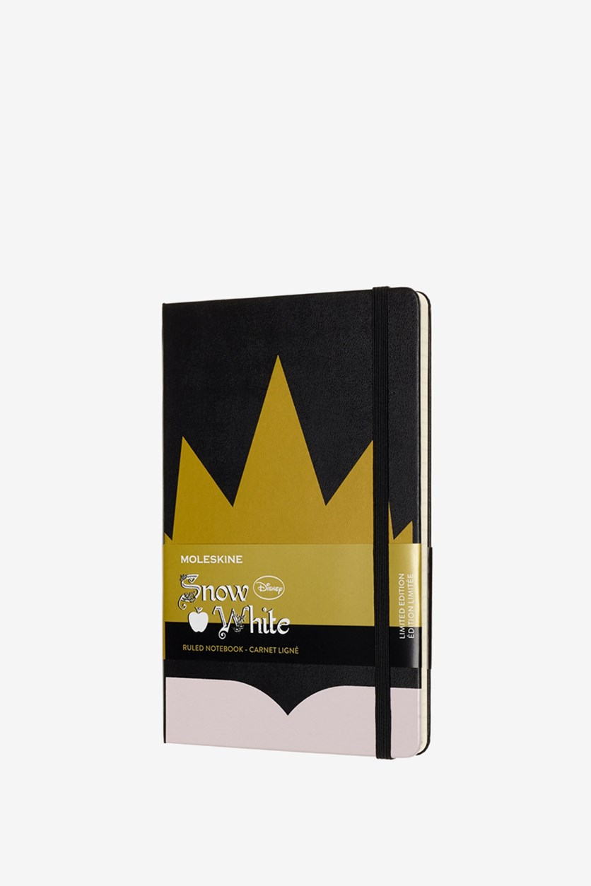 Snow White Notebook, Black/Gold
