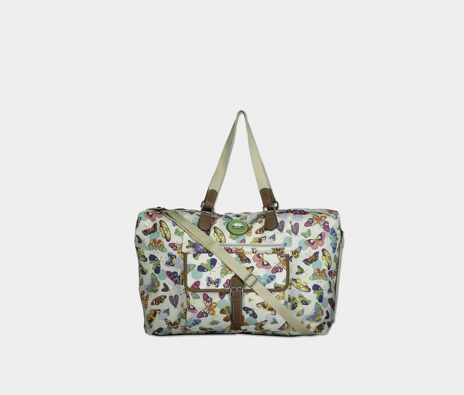 Butterfly Twister Fiona Weekender Travel Bag, Ivory