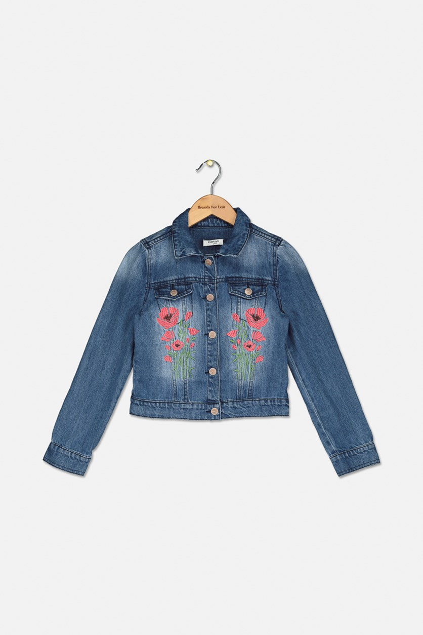 Kid's Girls' Denim Jacket, Blue